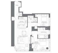 two bed floor plans and rentals at millennium tower boston