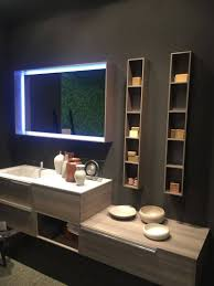bathroom mirror with lights built in vanity decoration