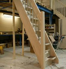 Space Saving Stairs Design Minimalist Space Saver Staircase Design For Pine Wooden Material