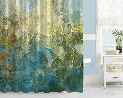 Waterproof Fabric Shower Curtains Art Shower Curtain Etsy
