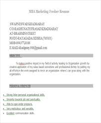 Mba Marketing Fresher Resume Sample by 22 Modern Fresher Resume Templates Free U0026 Premium Templates