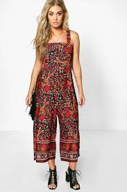 boohoo clothes plus floral cut out culotte jumpsuit ss2016