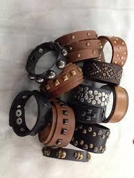 leather hand bracelet images Leather hand band mens leather bracelets exporter from delhi jpg