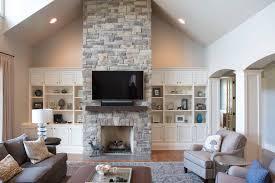 na elegant stacked stone fashionable fireplace stone fireplaces