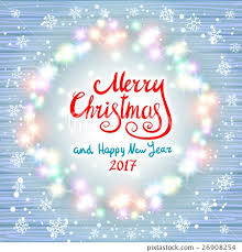 merry christmas and happy new year 2017 glowing stock