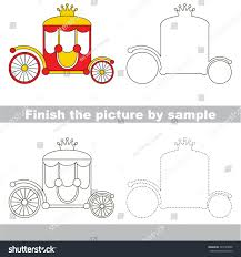 drawing worksheet preschool kids easy gaming stock vector