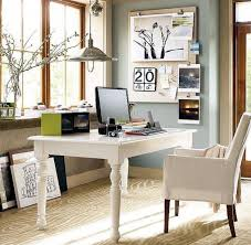 White Home Office Desks Small Spaces Home Office Design With White White Wooden Desk And