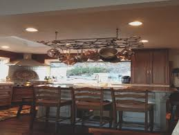 kitchen island pot rack kitchen island pot rack with lights home decoration ideas