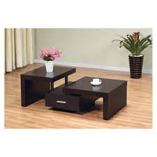 living room brown varnished wooden coffee table with rustic