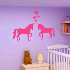 unicorns in love wall decal sticker girl s room vinyl wall art unicorns in love wall decal sticker girl s room vinyl wall art nursery wall decor