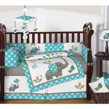 Teal Crib Bedding Set Baby Bedding For Less Overstock