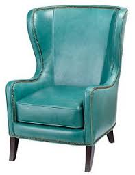 the perfect turquoise leather wingback chair dempsey home
