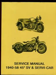 wla harley davidson servicar sv service manual 1940 1958 pdf