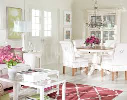 pink interiors ethan allen pink dining room embroidered chairs