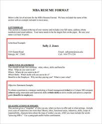Objective For Mba Resume 10 Mba Resume Templates Free Word Pdf Psd