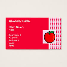 apple business card pink apple business cards templates zazzle
