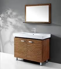 real wood modern bathroom vanities for a warmer modern bathroom decor