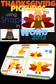thanksgiving pictures using shapes in microsoft word thanksgiving