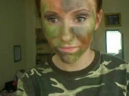 Womens Camo Halloween Costumes Halloween Series Camouflage Face Paint