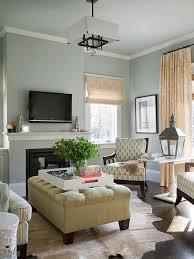 Light Blue Tufted Ottoman Green Tufted Ottoman Cottage Living Room Bhg
