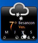 gadget de bureau meteo météo gadget pour windows seven