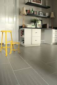 Gray Tile Kitchen Floor by Slate Floor Keeping That Same Tile In The Bathroom Just Smaller