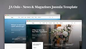 review features joomla news magazine template ja oslo joomla