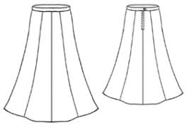 free pattern home women skirts 5028 long skirt sewing
