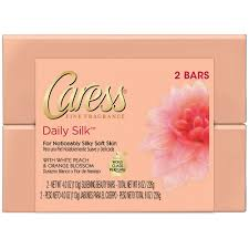 caress daily silk beauty bar silkening white peach u0026 silky