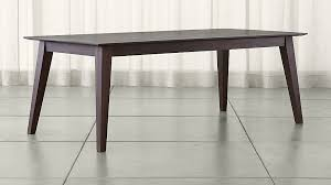 steppe solid wood dining table crate and barrel