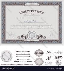 certificate template royalty free vector image vectorstock certificate template vector image