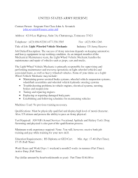 Army Resume Examples by Best Photos Of Auto Mechanic Objective Automotive Mechanic
