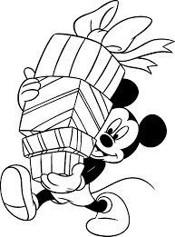 mickey mouse bring gifts mickey mouse u0026 minnie coloring pages