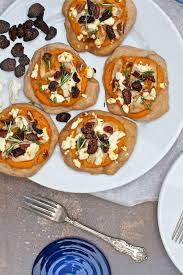 sweet potato goat cheese turkey fig pizzas recipe