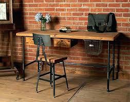 Metal Desks For Office Wood Metal Desk Vintage Industrial L Shaped Steel And Reclaimed