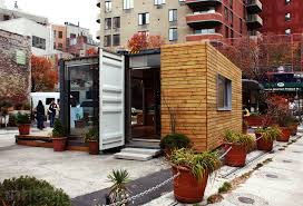 shipping container prefab home pops up in nyc u0027s west village
