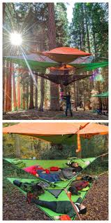 the hanging tent company has produced a suspended tent meant for