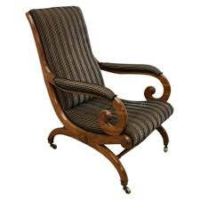 Library Chair George Iv Mahogany Library Chair Georgian Antiques