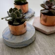 Concrete Succulent Planter Copper Concrete Marble Succulent Planter By The Abstract Bee