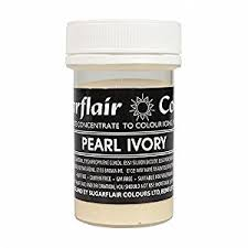 edible gel sugarflair pearl ivory 25g concentrated edible gel food colour