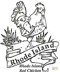 red chicken rhode island coloring free printable