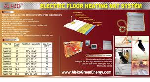 electric radiant floor heating system for your home alekoproducts