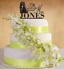 personalised wedding cake topper mr u0026mrs with surname date of