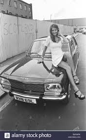 a peugeot reveille model beulah hughes seen here posing with a peugeot 504