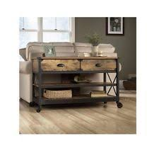 Foyer Table With Drawers Industrial Console Table Ebay