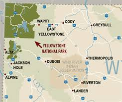Sheridan Wyoming Map Hotels And Cabins Near Yellowstone U0027s East Entrance My
