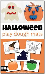 halloween play dough mats for fine motor play free printable