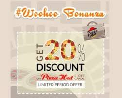 discount e gift cards woohoo loot get 20 discount on pizza hut e gift card alllootoffers