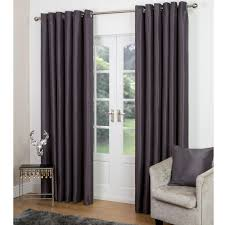 Pewter Curtains Faux Silk Curtains