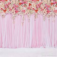 photo backdrop 10 ft pink curtain wall wedding backdrop colorful roses